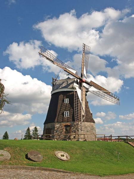 Museumsmühle Woldegk, eine von sechs erhaltenen Mühlen im Ort